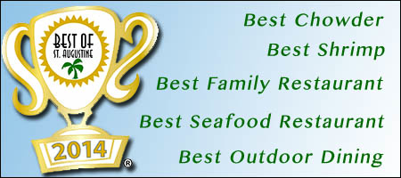 Aunt Kates Restaurnat is voted BEST OF 2014 in Chowder, Shrimp, Outdoor Dining, Family Restaurant, Seafood Restaurant